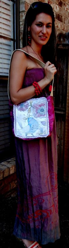 Handmade Tote Cross Body Shoulder Bag Handbag by CrossMyHeartBags, $22.00