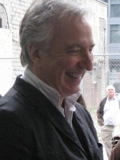 Alan Rickman - best smile ever! -- -- Great photo ... but ... needs a date, and if possible, a location .... ??????????