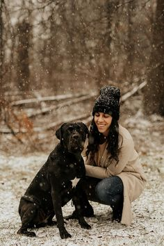large breed dog with white star on chest and woman in the woods, winter dog portraits   ©Tomo.photography   London, Ontario, #canecorso Medium Sized Dogs, Medium Dogs, Lifestyle Photography, Animal Photography, Black Cane Corso, Pet Friendly Accommodation, Dog Beach, Large Dog Breeds, Dog Park