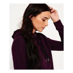 Superdry Orange Label Luxe Blackened Hoodie ($45) ❤ liked on Polyvore featuring tops, hoodies, purple, metal hoodie, logo hoodies, superdry hoodies, orange hoodie and superdry hoodie