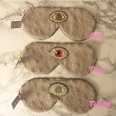Third Eye Sleep Masks  While you sleep, your third eye awakens Sleeping Masks/Handmade/softer than soft cotton/Hand Embroidered Eye Patch/tagged FP for exposure only/Please indicate which number sleeping mask and I will create a listing for you Free People Accessories