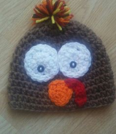 Check out this item in my Etsy shop https://www.etsy.com/listing/480884461/crochet-turkey-hat-crochet-thanksgiving