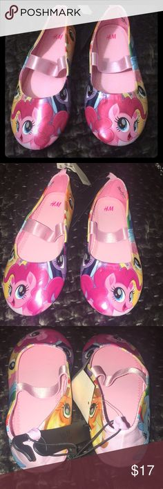 I adorable my little pony flats Super cute!! Just love them! #mylittlepony #pink #flats H&M Shoes Dress Shoes