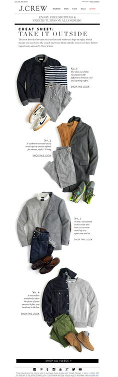 #newlsetter J.Crew 11.2013 Cheat sheet: Take it outside