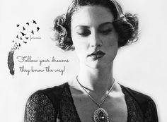 Follow your dreams...   #FarahZeynepAbdullah #blackandwhite #vintage #dreams