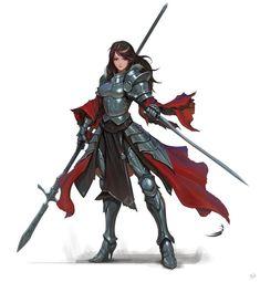 ArtStation - Spear_Knight, Daejun Park (Gae Go) - why do artists always give female knights impractical heels?!