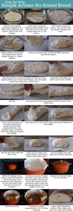Artisan No-Knead Bread Step-by-Step Tutorial Mel's Kitchen Cafe Bread Bun, Bread Rolls, Bread Head, Dutch Oven Recipes, Cooking Recipes, Cooking Hacks, Dutch Oven Bread, Dutch Ovens, Chef Recipes