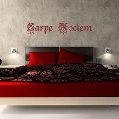 Carpe Noctem (Seize the Night) Vampire inspired/Vinyl Wall Art-CHOOSE Any Color on Etsy, $26.99