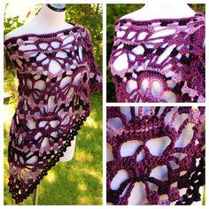 Variegated Violet #Crochet Skull Shawl