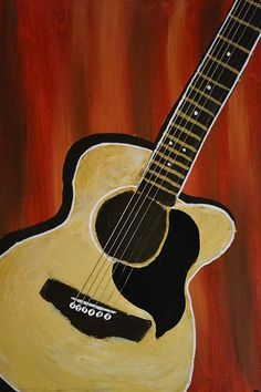 paintings of guitars - Google Search