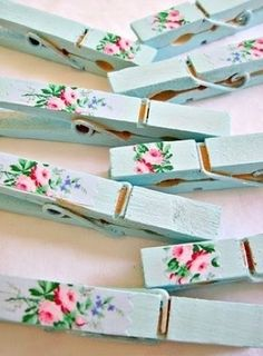 hand painted clothespins