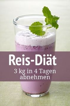 Rice diet: lose in 4 days - Reis-Diät: in 4 Tagen verlieren Rice is an ideal slimming product – especially whole grain rice - Health Diet, Health And Nutrition, Healthy Food List, Healthy Eating, Whole Grain Rice, Fat Burning Drinks, Le Diner, Calories, Chia Pudding