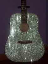Diy sequins guitar