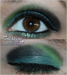 Green Turquoise  Black Eye Make Up - Datum: 26.09.2011  http://talasia.blogspot.de/2011/11/amu-catrice-kermit-keeps-me-running.html