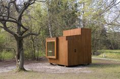 Measuring only 32 square feet, Read-Nest is a modernist wooden cube that offers a tranquil place to escape and indulge in the pleasure of reading. Designed by the Danish firm Dorte Mandrup Architects