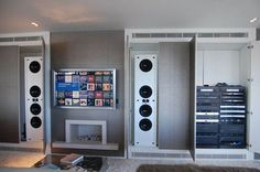 Creative Home Cinema - Specialists in home cinema design, installation and integrated home solutions - Creative Gallery - Contemporary Riverside Setting - Chelsea, London