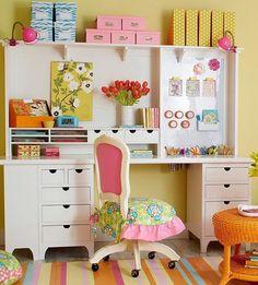 Ideas para decorar un espacio para las manualidades.