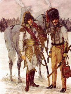 Murat and his aide de camp, Eylau 1807