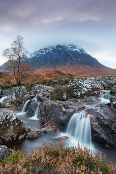 Buachaille Etive Mor , in the Highlands of Scotland.