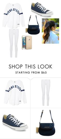 """""""Penn State"""" by nelson-iv ❤ liked on Polyvore featuring Frame Denim, Converse, Michael Kors, women's clothing, women's fashion, women, female, woman, misses and juniors"""