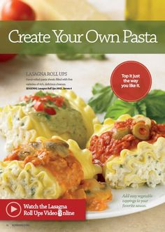 Our Lasagna Roll Ups (#400) are hand-rolled sheets of pasta filled with five varieties of rich, delicious cheeses. #Schwans #Recipe #Lasagna