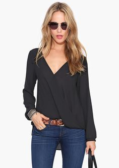 love the crossover blouse