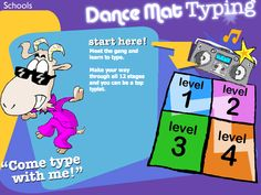 Dance Mat Typing, from the BBC, is a great program for beginning typers. There are different levels that focus on specific keys and after each successful level, students are rewarded with a song and dance.