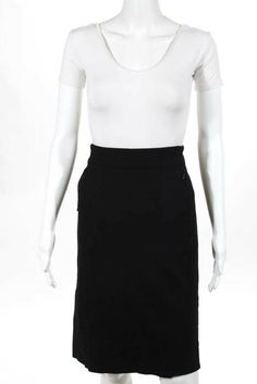 d3b477560 Diane Von Furstenberg Black Stretch Knit 2 Pocket Pencil Skirt Size 8  #fashion #clothing #shoes #accessories #womensclothing #skirts (ebay link)