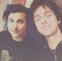 Frank Iero and Billie Joe Armstrong - can you imagine what it would be like if the cellabration went on tour with Green Day? I mean, it would probably never happen, but still... wow.