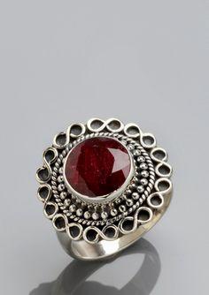 SAMUEL B Round Ruby Ring