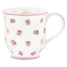 GreenGate Stoneware Tea Mug Tammie Rose H 9,5 cm