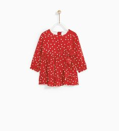 POLKA DOT DRESS WITH BOW-DRESSES AND JUMPSUITS-BABY GIRL | 3 months - 4 years-KIDS | ZARA United States