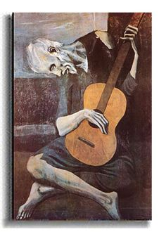 The Old Guitarist demonstrates the depth of Picasso's genius as he combines color with simplified shape Our canvas fine art replicas surpass most reproductions available on the market today Individual
