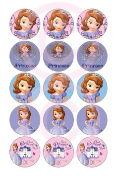Sofia The First Inspired Bottle Cap Images (2)- ready to print on 4x6 - INSTANT DOWNLOAD - Buy 3 Get 1 Free!
