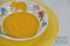 Sencilla crema de zanahorias para pequeños y mayores. Mucha zanahoria con un poco de apio, cebolla y patata.