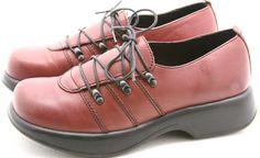 Dansko 40 Janika womens dress shoes Size 9.5 10 Portugal clogs oxfords burgundy #Dansko #Clogs @ebay