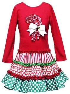 love how the candy cane is made out of gathered fabric and it is added to the skirt!  must do!