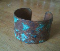 Vinegar & Salt Patina Copper Cuff. After a gentle clean and a coat of wax