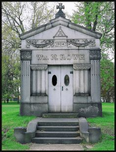 William N. Rowe Tomb constructed in 1904 at Woodmere Cemetery in Detroit & Door Detail: C.J. Whitney Mausoleum Woodlawn Cemetery--Detroit MI ... Pezcame.Com
