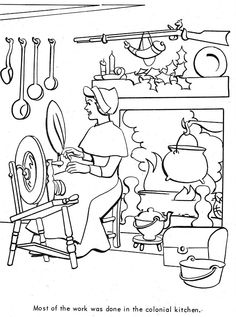 1000 images about holidays christmas coloring books on for Colonial coloring pages