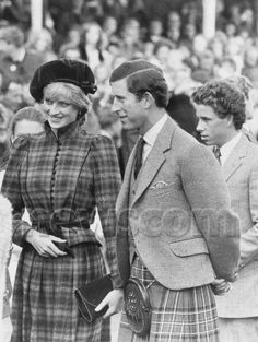 September 5, 1981: Prince Charles & Princess Diana go to the Highland games at Braemar, their first public outing together since their wedding.