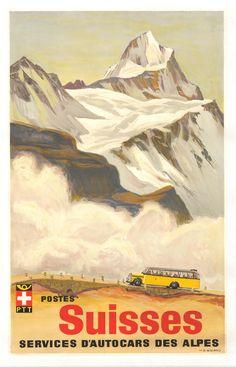 Los fríos Alpes suizos.