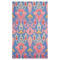 Highlight your living room or master suite in eye-catching style with this wool rug, featuring a bold ikat motif.   Product: Rug