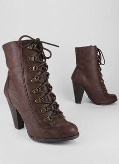 Or lace up high heel ankle boot, 31.40 gojane