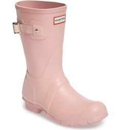 Can't get over these darling pink Hunter boots that are stylish and practical.