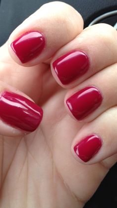 shellac tinted love ( Kind of a translucent quality - jelly-like - very pretty) Shellac Nails Fall, Shellac Nail Colors, Gel Manicure, Pink Nails, Manicure Ideas, Pedicure, Gorgeous Nails, Pretty Nails, Short Red Nails
