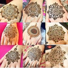 I miss doing the mandalas feel kinda lost with henna at the moment busy with life and other things. Looking forward to the holidays nothing but relaxing chilling and henna-ing Round Mehndi Design, Mehndi Designs Book, Finger Henna Designs, Mehndi Designs For Girls, Mehndi Designs For Beginners, Modern Mehndi Designs, Mehndi Design Photos, Wedding Mehndi Designs, Henna Designs Easy