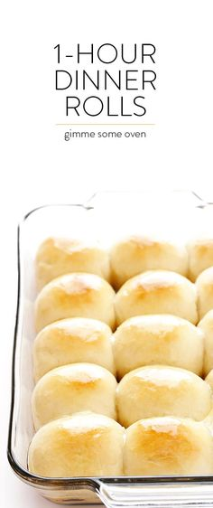 This 1-Hour Dinner Rolls recipe is the BEST! It's super-easy to make, and those soft and buttery rolls are irresistibly delicious!   gimmesomeoven.com
