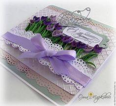 Мастер-класс по созданию открытки с тюльпанами. - Ярмарка Мастеров - ручная работа, handmade