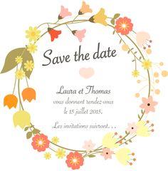 Save the date, faire part de mariage, fête… thème champêtre : Faire-part par crea-graphic